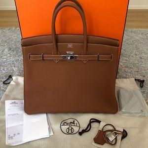 Hermes Birkin 35cm in Gold leather